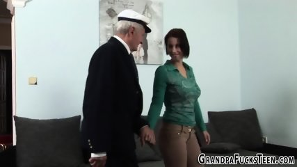 Teen sucks gramps dick