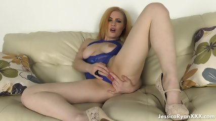 Amazing Redhead With Blue Lingerie