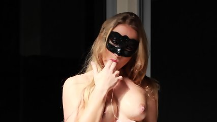 Oiled Masked Girl Fucked Hard In Ass And Throat - scene 2