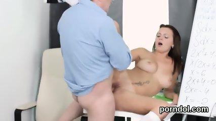 Lovable schoolgirl is seduced and fucked by older teacher