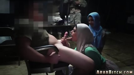 Arab virgin Sneaking in the Base! - scene 3