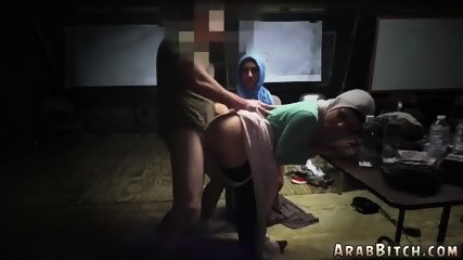 Arab virgin Sneaking in the Base! - scene 6