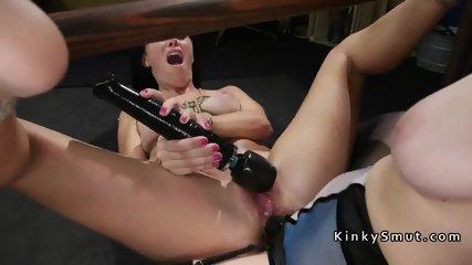 Lesbian slave gets anal strap on fuck - scene 11