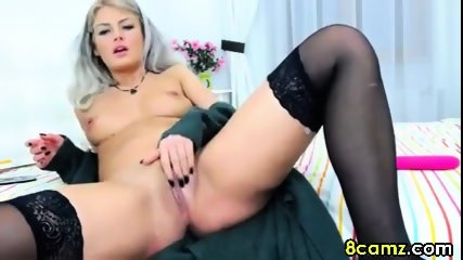 Blonde babe fingering and fisting - scene 2