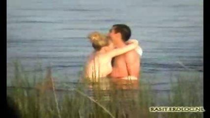 Voyeur spy cam caught couple in the lake - scene 9