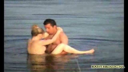 Voyeur spy cam caught couple in the lake - scene 10
