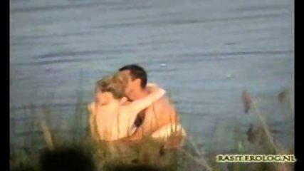 Voyeur spy cam caught couple in the lake - scene 11