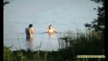 Voyeur spy cam caught couple in the lake - scene 1