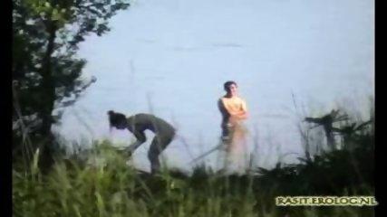 Voyeur spy cam caught couple in the lake - scene 2