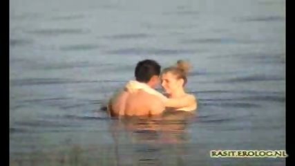 Voyeur spy cam caught couple in the lake - scene 7