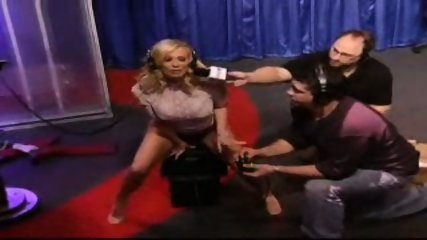 Jenna Jameson rides a sybian for the Howard Stern show - scene 2