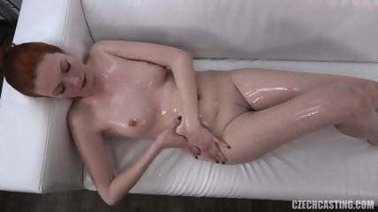 Hot Oiled Redhead - scene 9