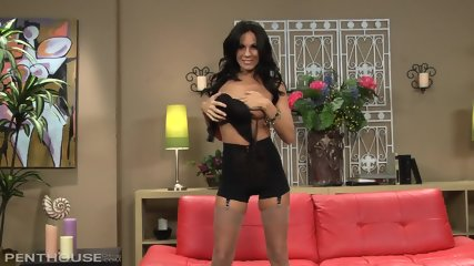 Busty Brunette With Sexy Stockings And Highheels - scene 2