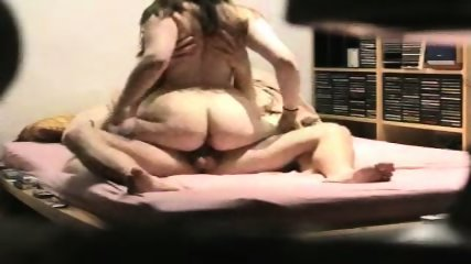Fat ass wife trying to ride his cock - scene 8