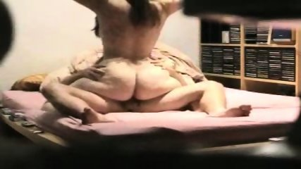 Fat ass wife trying to ride his cock - scene 9