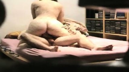 Fat ass wife trying to ride his cock - scene 1