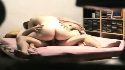 Fat ass wife trying to ride his cock