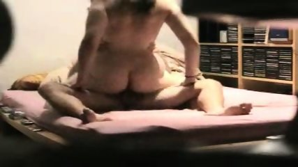 Fat ass wife trying to ride his cock - scene 7
