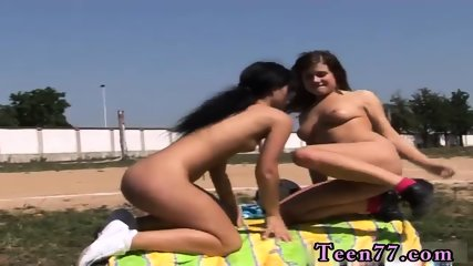 Hot brunette anna Sporty teenagers tonguing each other