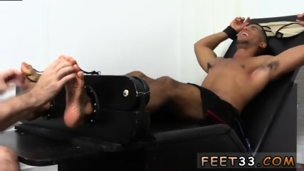 Guy caught sucking black gay Mikey Tickle d In The Tickle Chair