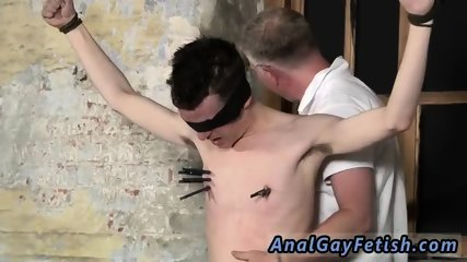 Gay male sock bondage and men pissing fetish Sean McKenzie is corded up and at the mercy