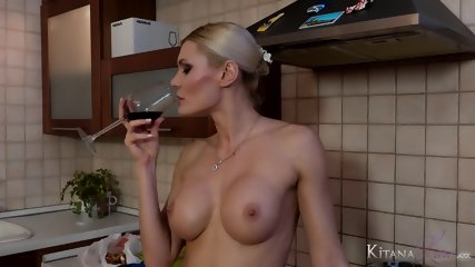 Cooking With Busty Blonde