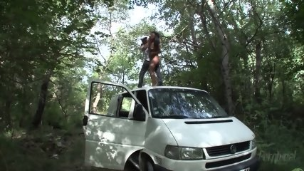 Latina Fucked Hard In Forest - scene 5