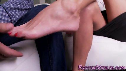 Kinky milf feet sprayed
