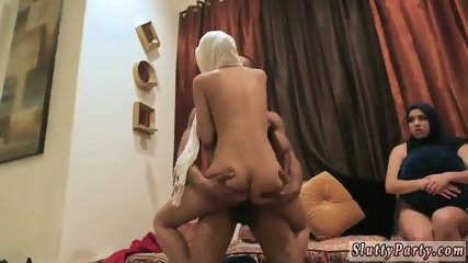 Mix and match orgy Hot arab nymphs try foursome