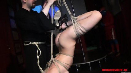 Tied Bitch At Kinky Show - scene 12