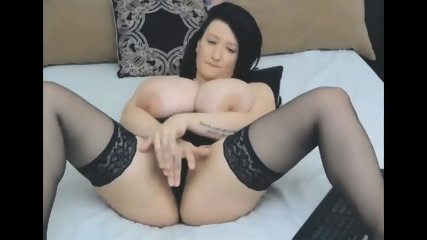 Busty Brunette With Big Tits In Stockings