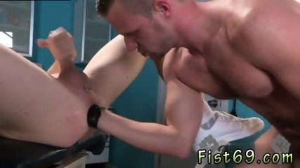 Skinny guys with big cocks gay Axel Abysse gets nude and hoists his gams up on the