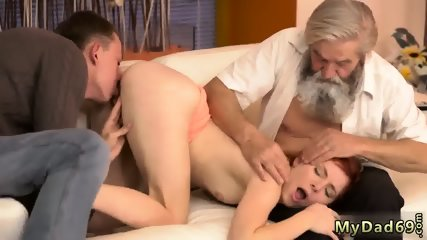 Young and old gang bang Unexpected practice with an older gentleman