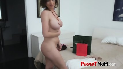 Hot psychotic milf makes her horny stepson bang her in doggystyle