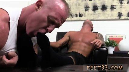 Dick in between legs gay Dev Worships Jachum s son James Manly Feet