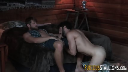 Hairy stud giving blowjob