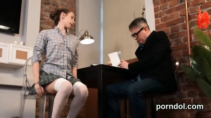 Fervent schoolgirl gets seduced and reamed by elderly teacher - scene 7