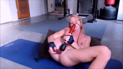 Perfect Body Ginger Deepthroating & Masturbate With Huge Dildo - scene 8