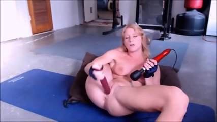 Perfect Body Ginger Deepthroating & Masturbate With Huge Dildo - scene 7