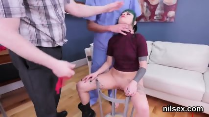 Flirty sweetie was brought in butthole madhouse for painful therapy