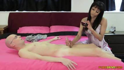 Charming Girl Rubs Penis