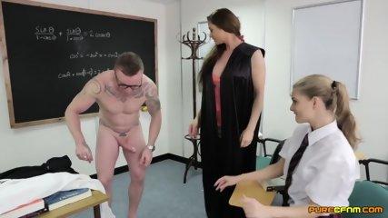 Blowjob Exam In The Classroom - scene 12