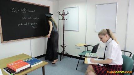 Blowjob Exam In The Classroom - scene 1