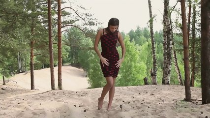 Girl Solo On Sand - scene 1