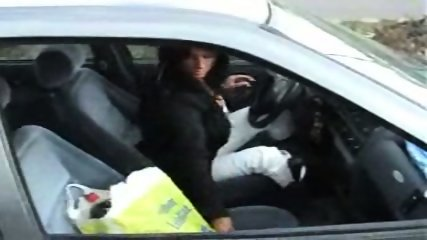 German Slut fucking on Parking Lot after Shopping - scene 3