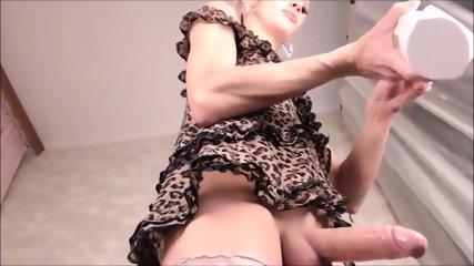 Hot blonde TS big cock masturbation on cam - TScamdolls.com
