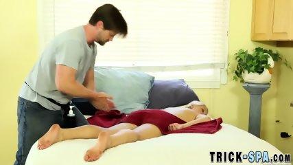 Pounded massaged cutie spermed