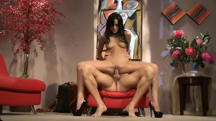Woman With High-heels Rides On Dick - scene 10