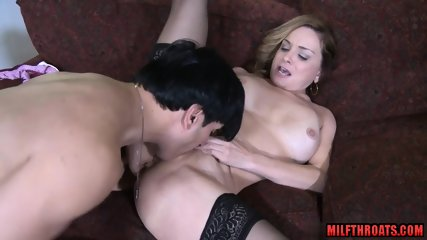 Natural tits milf titty fuck with facial