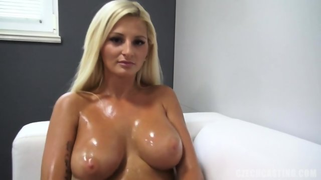 Amateur With Oiled Titties
